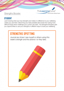 Strengths Booster Strengths Spotting
