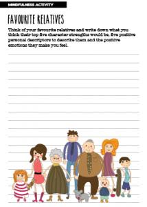 Mindfulness Activity Favourite Relatives