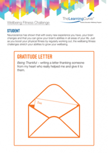 Wellbeing Fitness Challenge Gratitude Letter
