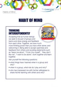 Habit of Mind Thinking Interdependently