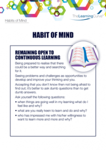 Habit of Mind Remaining Open to Continuous Learning