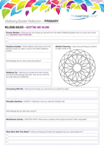 Wellbeing Builder Reflection