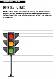 Mindfulness Activity Truth Traffic Lights