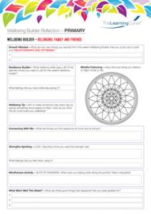 Wellbeing Builder Reflection