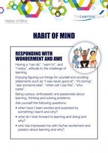 Habit of Mind Responding with Wonderment and Awe