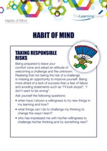 Habit of Mind Taking Responsible Risks