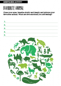 Mindfulness Activity Favourite Animal