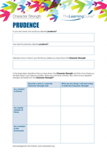 Character Strength Prudence