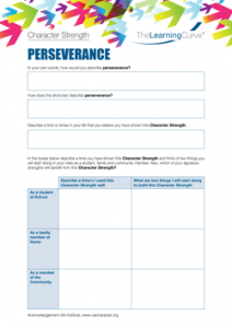 Character Strength Perseverance