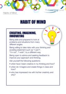 Habit of Mind Creating Imagining Innovating