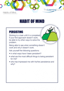 Habit of Mind Persisting