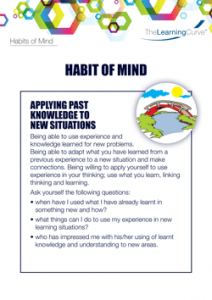 Habit of Mind Applying Past Knowledge to New Situations