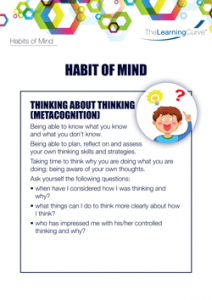 Habit of Mind Thinking About Thinking