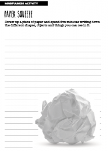 Mindfulness Activity Paper Squeeze