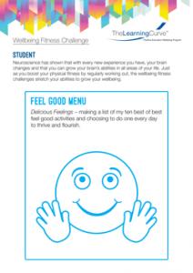 Wellbeing Fitness Challenge Feel Good Menu