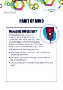 Habit of Mind Managing Impulsivity