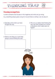 Thinking Trap Focusing on Negatives