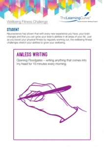 Wellbeing Fitness Challenge Aimless Writing