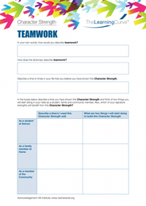 Character Strength Teamwork