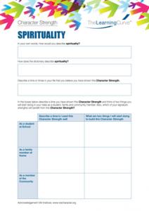 Character Strength Spirituality