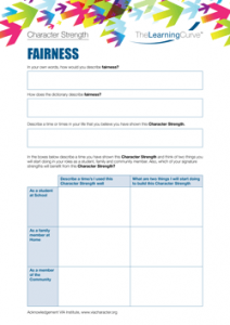 Character Strength Fairness
