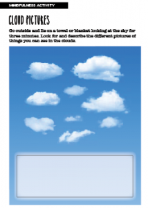 Mindfulness Activity Cloud Pictures