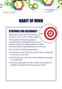 Habit of Mind Striving for Accuracy