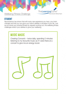 Wellbeing Fitness Challenge Music Magic
