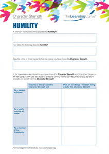 Character Strength Humility