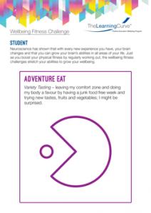 Wellbeing Fitness Challenge Adventure Eat