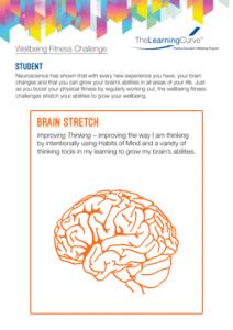 Wellbeing Fitness Challenge Brain Stretch