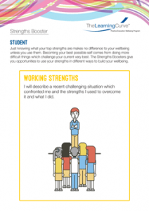 Strengths Booster Working Strengths