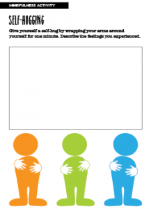 Mindfulness Activity Self-Hugging