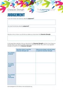 Character Strength Judgement