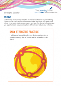 Strengths Booster Daily Strengths Practice