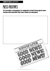 Mindfulness Activity Press Positives
