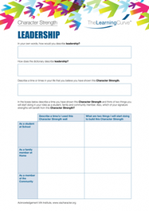 Character Strength Leadership