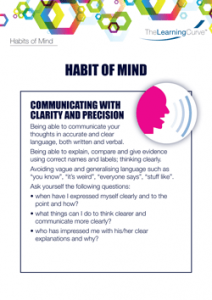Habit of Mind Communicating with Clarity and Precision