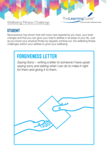 Wellbeing Fitness Challenge Forgiveness Letter