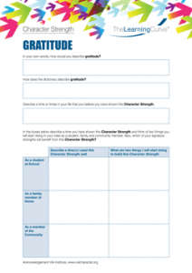 Character Strength Gratitude