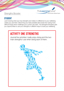 Strengths Booster Activity One Strengths