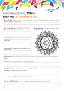Wellbeing Builder Reflection MIDDLE
